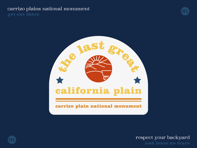 Get Out There - Carrizo Plains National Monument 2 retro public lands plains outdoors sticker outdoors design outdoors nature design nature national monument great outdoors get out there get outside california bureau land management blm