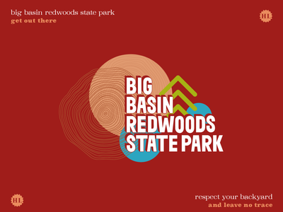 Big Basin Redwoods State Park state park santa cruz redwood trees redwoods outdoors sticker outdoors design outdoors nature design nature great outdoors get out there get outside forest coastal california state park california big basin