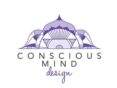 Conscious Mind Design Logo vector mandala illustration design logo