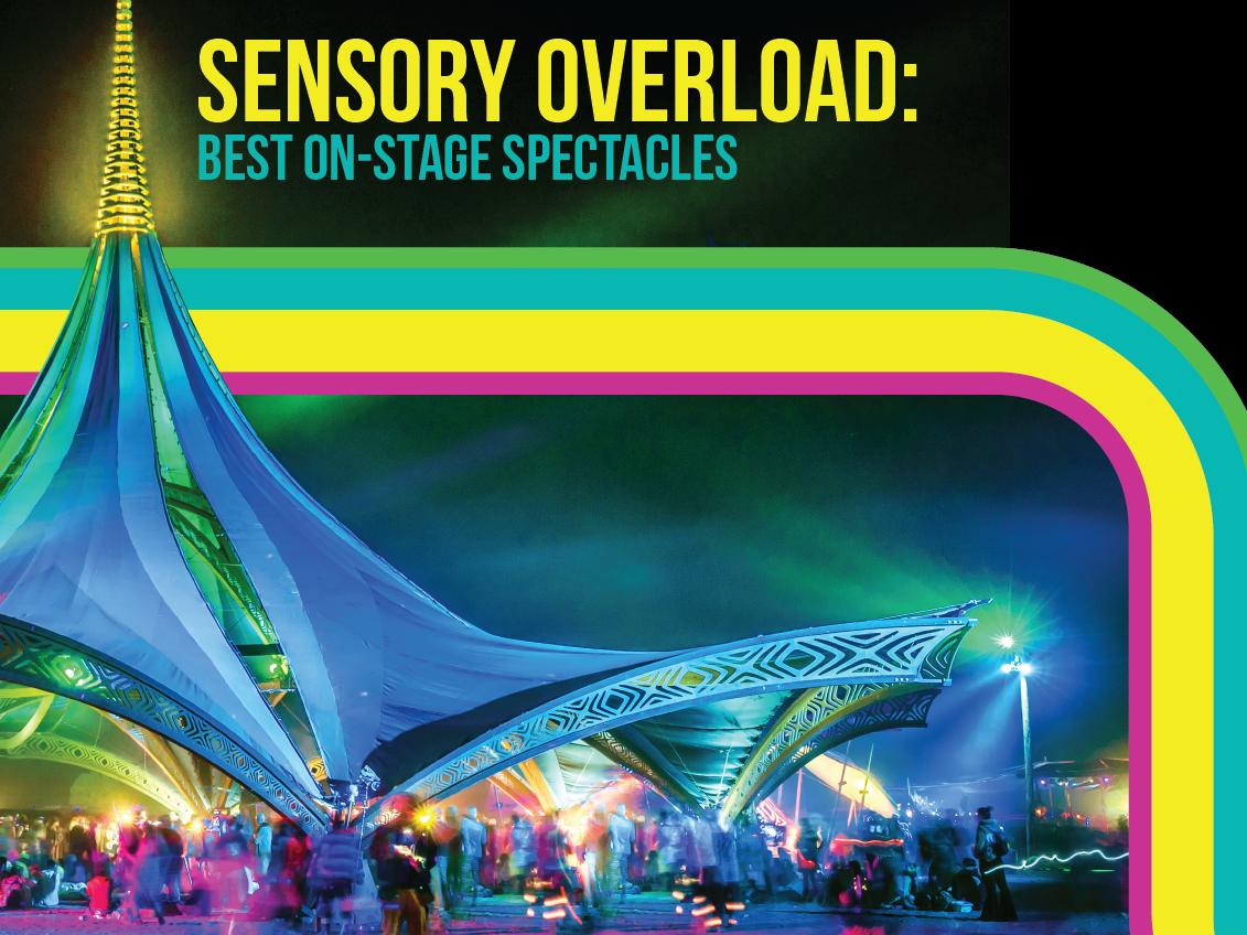 Sensory Overload music festival editorial magazine branding vector design