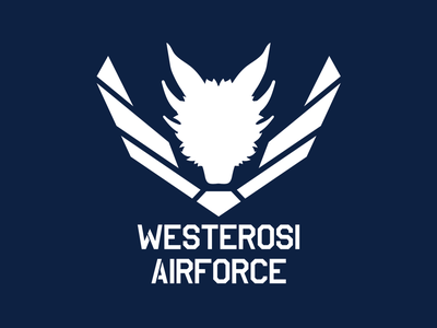 Westerosi Airforce airforce dragons logo vector illustration design got game of thrones hbo