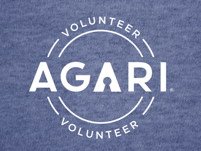 Agari Volunteer Tshirt typography logo design swag graphic design illustration tshirt art tshirt design volunteer tshirt