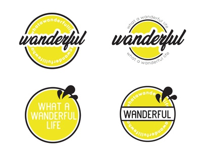 Wanderful Logo Exploration logo design yellow wonderful wander brand design brand identity adventure branding logo vector design