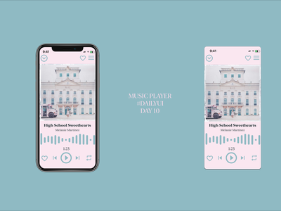 #DailyUI Challenge Day 10 Music Player Design ui design app