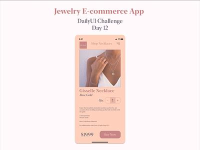 DailyUI Challenge Day 12 ecommerce Design branding feminine ui app design