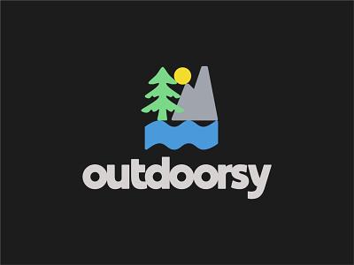 Outdoorsy spruce fir mountain forest nature wilderness retro geometric grotesque geometric outdoors design brand type illustration logotype logo typography print branding