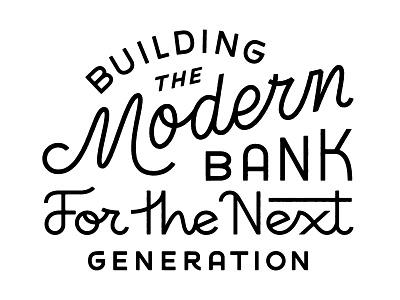 Earnest  custom lettering mural earnest bank monoweight monoline art design layout typography lettering type