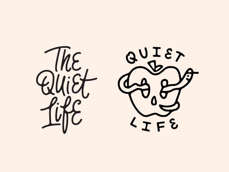 QL outline careless rough layout design thequietlife print art illustration typography lettering type