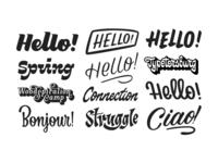 logos and tags selection