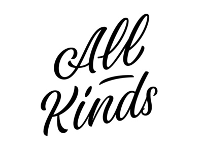 All Kinds olgavasik cardnest brushlettering brush typography lettering type