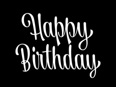 Happy Birthday olgavasik cardnest print handlettering brush lettering script typography lettering type