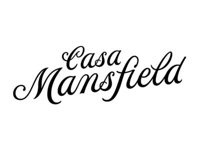 Casa Mansfield handlettering script branding logotype logo typography lettering type