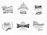 caviar lettering sketch