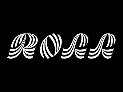 Roll olga vasik print logotype logo hand lettering waves typography lettering type