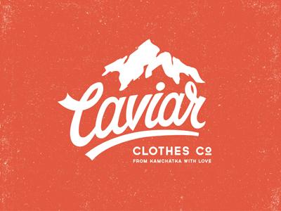 Caviar mountain logo 01