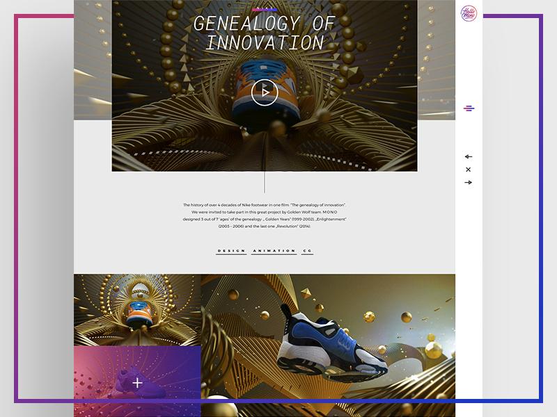 Production studio portfolio image photo ux ui typography www desktop portfolio grid webdesign