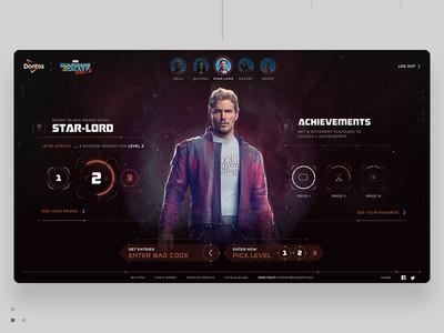 Star-Lord Dashboard game circle webdesign infographics data interface ui dashboard