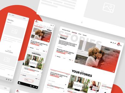 UX + design for a content platform modern clean typography gallery grid content website webdesign ui ux