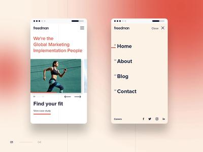 Mobile UI interactive swipe design mobile ux ui