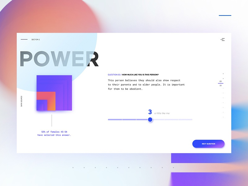 interactive survey with live data visualization by kuba bogaczynski