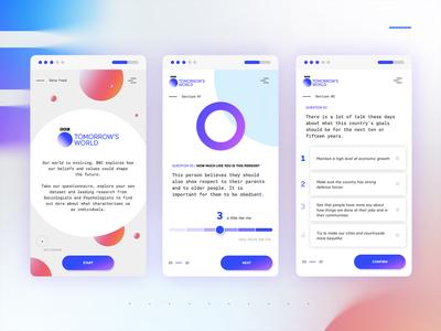 Mobile Interactive survey design circle interface data infographics app ui