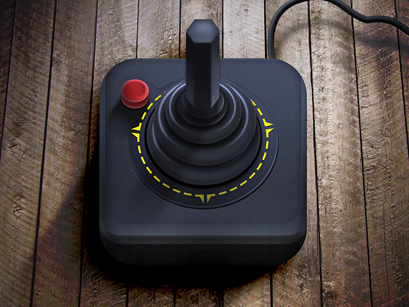 Atari Joystick iOS Icon by Alex - Dribbble
