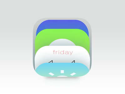 iOS7 Folder ios7 folders concept apple iphone mobile color stacking apps icons