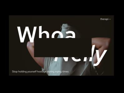 therapi minimal web help therapy concept black interaction clean ux