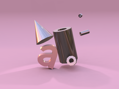 Abstract 36daysoftype color bolt shadow pink exploration vectary 3d vectary cone letter cylinder
