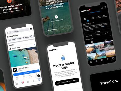 Peanut 🚀 Product Hunt! twemoji flat web travel product chrome material design interaction mobile