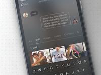 Dark UI messaging + smart search