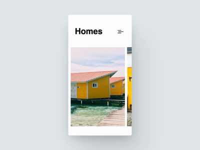 New Airbnb soft parallax minimal principle design concept blue google black motion app ios clean interaction white mobile ux ui