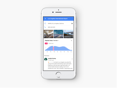 Live Popular Times [Throwback] material google motion ios clean interaction white mobile ux ui