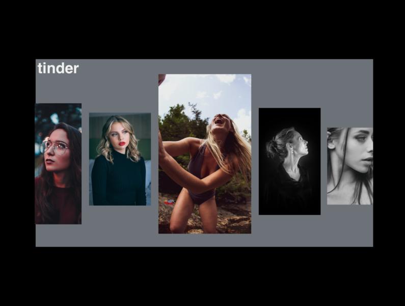 🔥 woman print slider grid slate face design app tinder clean black minimalist concept webdesign web ux ui