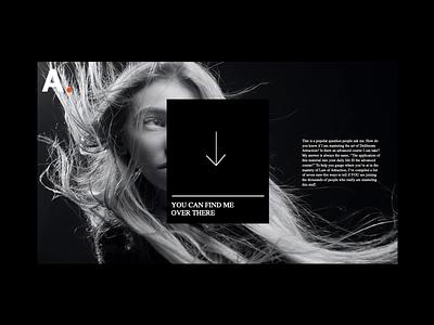 Intro animations lettering times prints arrow grid layout print web prototype principle face woman minimal grid parralax concept motion black interaction clean ui