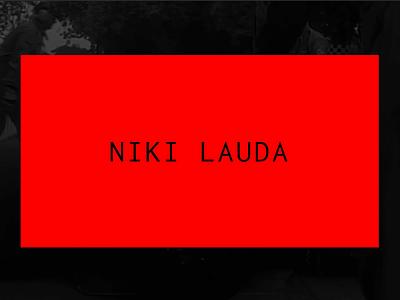Niki Lauda Concept Animations grid layout minimalist webdesign prototype webflow drive ferrari red design principle motion concept black interaction mobile clean ux ui