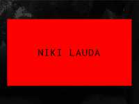 Niki Lauda Concept Animations grid layout minimalist webdesign prototype webflow drive ferrari red design principle motion concept black interaction mobile clean ux ui