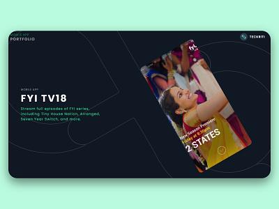 FYI TV18 - Mobile app ui ux app