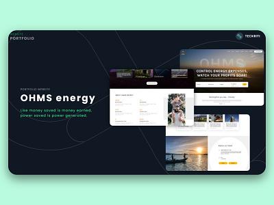 OHMS energy - Portfolio website ux ui branding design