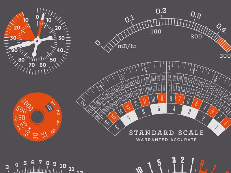 Redline hco scale dial gauge instrument thermostat vu temperature pressure amps