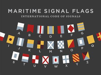 Maritime Signal Flags signalling ciphers codes boat nautical maritime flags chronicle gotham hco