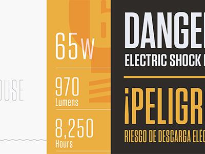 Tungsten Narrow sans typography narrow condensed tungsten danger! light bulb ¡peligro! hco