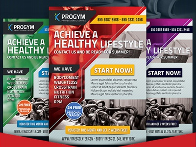 Free Sports Fitness Gym Business Flyer crossfit sports weight loss health business flyer local gym fitness free freebie print
