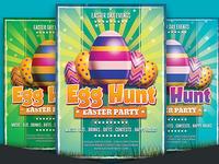 Free Easter Egg Hunt Party Flyer