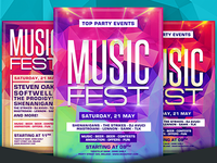 Free Music Fest Party Flyer