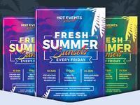 Fresh Summer Sunset Flyer Template