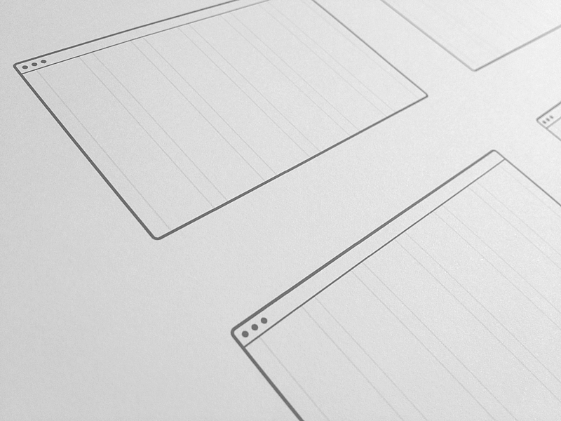desktop wireframe templates by uiux assets dribbble