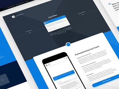 Freebie: App Landing Page ui kit free footer hero mockup template live chat sketch landing page freebie