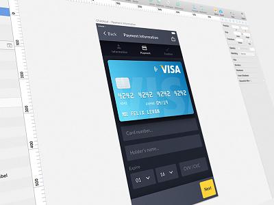 Checkout visa card ui kit checkout