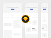 Responsive Wireframe Kit for Sketch